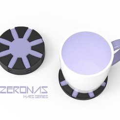 ZERONAS 1.jpg Download OBJ file ZERONAS - COASTER • Model to 3D print, Queen3D