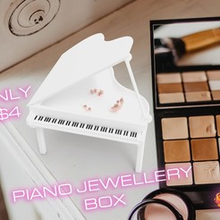 Download STL file PIANO JEWELLERY BOX, Queen3D