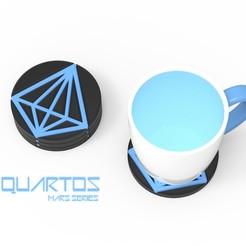 QUARTOS 1.jpg Télécharger fichier OBJ QUARTOS - SOUS-VERRE • Design à imprimer en 3D, Queen3D