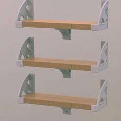 Descargar archivo 3D Soportes para estanterías DIY, Bespoke3D