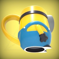 Download 3D printer designs Minion Mug, lucasurielabate