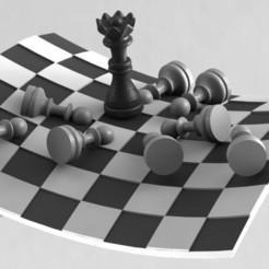 chess-deco-3d-model-stl (1).jpg Télécharger fichier STL Modèle d'impression 3D pour la déco des échecs • Plan imprimable en 3D, RShoD