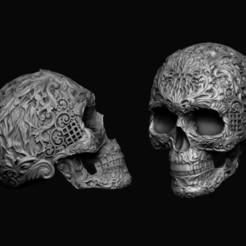 skull-ornamental-3d-model-obj-stl (1).jpg Download OBJ file Skull ornamental 3D print model • Design to 3D print, RShoD
