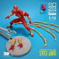 Download 3D printer designs SPIDER ARMOR UPGRADE PACK, 3dzipguy