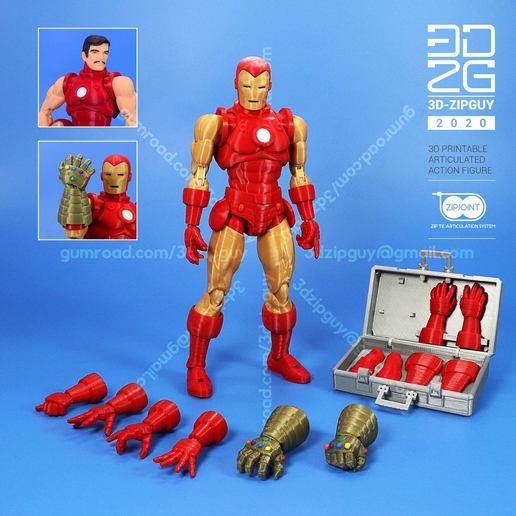 Télécharger fichier STL Figurine Ziptie entièrement articulée de Iron Guy - (fan art) • Plan pour imprimante 3D, 3dzipguy