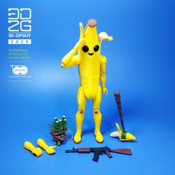 Download STL files BANANA GUY ( PEELY from FORTNITE), 3dzipguy