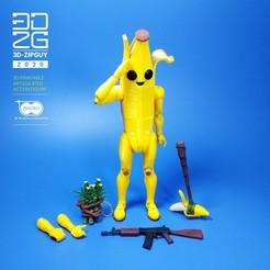 ZIP GUYS FIGURE_ZIPGAL BANANA GUY-40.jpg Télécharger fichier STL BANANA GUY • Design imprimable en 3D, 3dzipguy