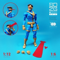 Download STL files CYCLOPS ACTION FIGURE, 3dzipguy