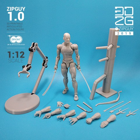 Download 3D model ZIPGUY 1.0 ZIP TIE ACTION FIGURE, 3dzipguy