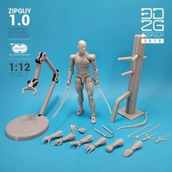 3D printer files ZIPGUY 1.0 ZIP TIE ACTION FIGURE, 3dzipguy