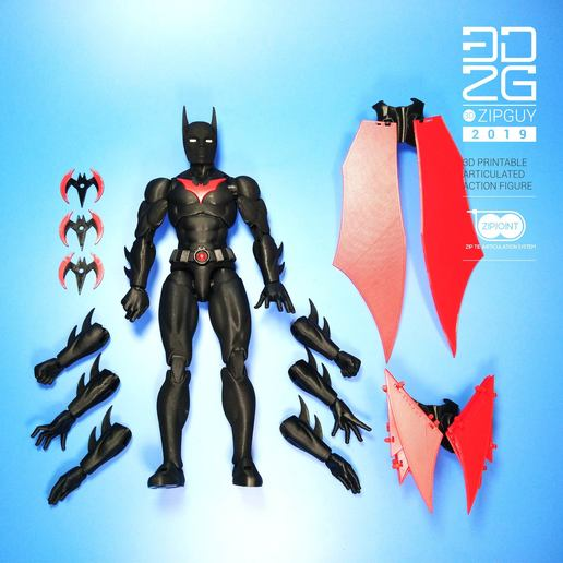 Download 3D printer designs BATMAN BEYOND COMPLETE, 3dzipguy