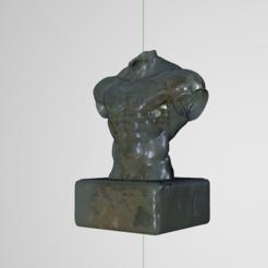 Télécharger fichier 3D homme torse sculpture, guillera