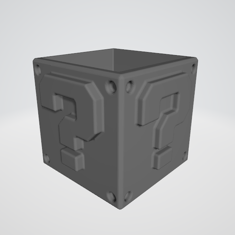 Download free 3D printing files Super Mario question mark block ?, guillera