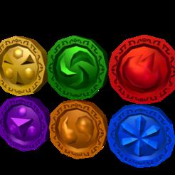 11394.png Download free OBJ file Legend of Zelda Medallions • 3D printable design, guillera