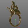 Imprimir en 3D Pikachu Pokemon Ring, guillera