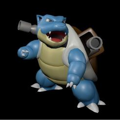 Descargar STL Blastoise Pokemon, guillera