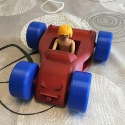 IMG_6236.JPG Télécharger fichier STL gratuit Voiture enfant pour Playmobil. • Design à imprimer en 3D, Vins263D