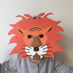 Descargar modelos 3D gratis Máscara de león para niños, Vins263D