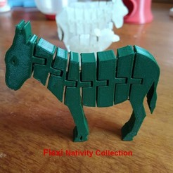 Download STL file Flexi Donkey - Nativity Collection - Bethlehem • 3D printer design, el_tio_3D