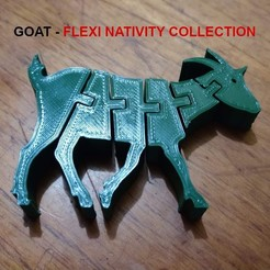 Descargar modelos 3D para imprimir Flexi Goat - Nativity Collection - Cabra, el_tio_3D