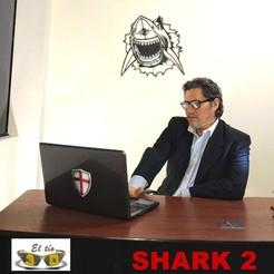 tiburon shark 2d BIG SIZE 1b.jpg Download STL file SHARK 2D - BIG SIZE - WALL DECOR • 3D printable model, el_tio_3D