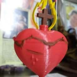 Download free 3D printer designs Sacred Heart of Jesus, el_tio_3D