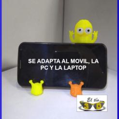 """Télécharger fichier 3D MINI """"KEVIN"""" POUR ÉCRAN DE PC OU ORDINATEUR PORTABLE, el_tio_3D"""