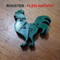 Download 3D print files Flexi Rooster - Nativity Collection - Rooster, el_tio_3D