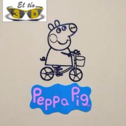 prin - edit.png Download STL file DECO PEPPA PIG - SCULPTURE 2D WITH LOGO • 3D print model, el_tio_3D