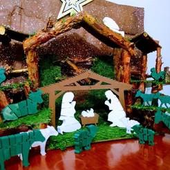 Download 3D printer templates Flexi Nativity Scene - Belen Flexi, el_tio_3D