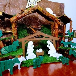 Descargar archivo 3D Flexi Nativity Scene - Belen Flexi, el_tio_3D