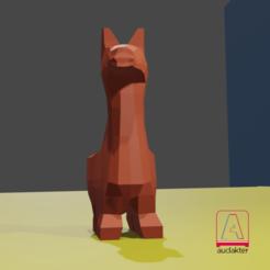 Download STL file LOW POLY ALPACA • 3D printable design, el_tio_3D