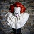 Download free OBJ file Pennywise Bust • 3D printable design, Klaussphoenix