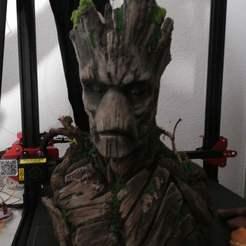 Download free 3D printing models Groot Bust Sculpture, Klaussphoenix