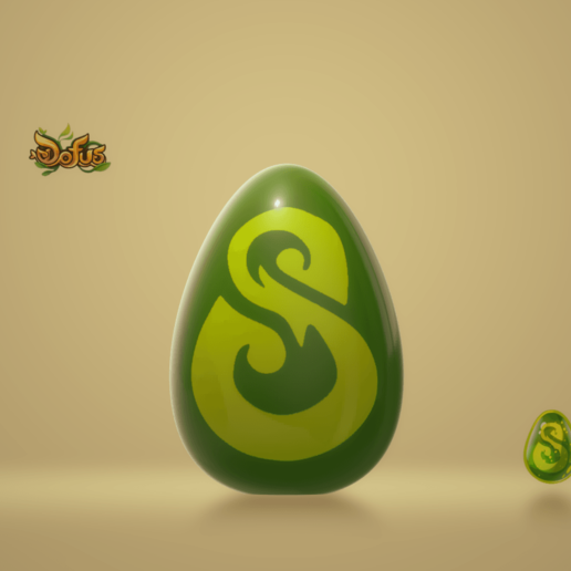 OeufDofusEmeraudeFront.png Download free STL file Egg Dofus Emerald / Egg Dofus Emerald • 3D printer template, Ayzen