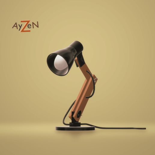 FaceThingiverse2.png Download free STL file Desk lamp • Design to 3D print, Ayzen