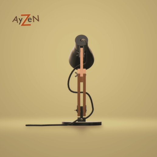 DerièreThingiverse.png Download free STL file Desk lamp • Design to 3D print, Ayzen