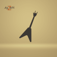 Marque Page Guitare 1.png Download free STL file Guitar bookmark / Bookmark guitar • 3D printable model, Ayzen