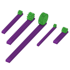 Rack And Gears v10.png Download STL file Racks and Gears • Design to 3D print, BasementCreations