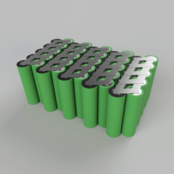 render baterii.png Télécharger fichier STL gratuit 18650 10S5P Visualisation du bloc-piles • Plan à imprimer en 3D, BasementCreations