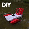Download 3D printer designs RC Airboat conversion kit, BasementCreations