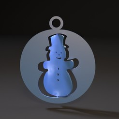 Download 3D printer templates Christmas toy snowman, zalesov