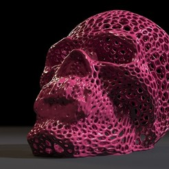 10006.jpg Download STL file Vampire skull • 3D printer template, zalesov