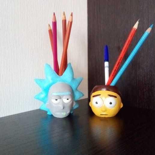 Télécharger STL Rick et Morty planteur d'organiseur de Morty, zalesov