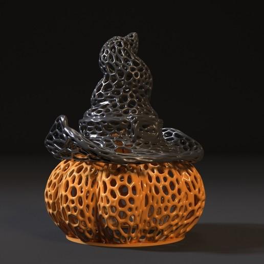Imprimir en 3D calabaza con sombrero, zalesov