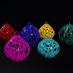 Download 3D printing designs set of christmas balls, zalesov
