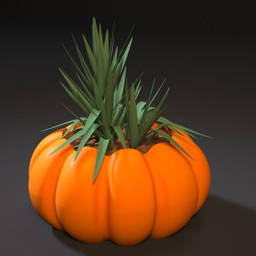 Download 3D printing models planter pumpkin, zalesov