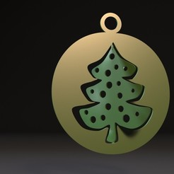 Download 3D printing models Christmas tree toy, zalesov