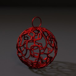 10000.jpg Download STL file Christmas ball • 3D print design, zalesov