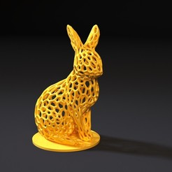 Download 3D printing models Rabbit voronoi, zalesov